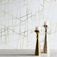 Modern wallpaper beige cream off white gold metallic Textured abstract lines 3D