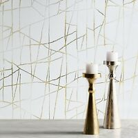 Modern wallpaper beige cream off white gold metallic Textured abstract lines 3D