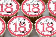 24 X PINK 18TH HAPPY BIRTHDAY EDIBLE CUPCAKE TOPPERS RICE PAPER 1540