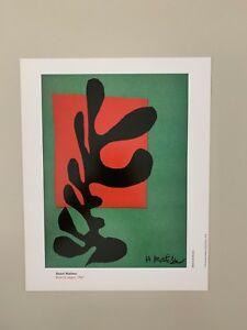 MATISSE,'BOXEUR NEGRE,1947' RARE AUTHENTIC 1993 ART PRINT