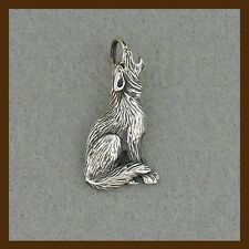 the howling wolf pendant, massive 925 sterling silver, navahopi, american native