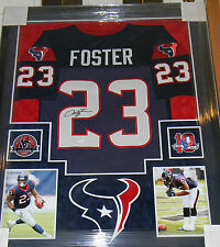 ARIAN FOSTER SIGNED JERSEY AUTO FRAMED SUEDE MATTING JSA COA HOUSTON TEXANS