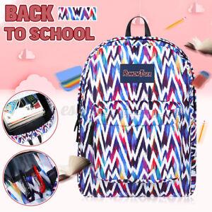 Large Rucksack Women Girl Backpack Back School Bag Travel Laptop Handbag Flower