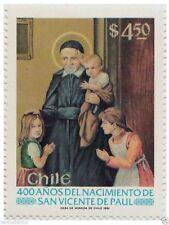 Chile 1981 #1010 400 años del Nacimiento de San Vicente de Paul MNH