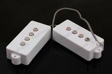 4 String Humbucker Pickup for electric P Bass White