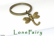 Bronze Dragonfly Metal Keyring key Chain Animals & Insects Steampunk