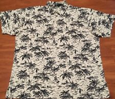 Vtg Rare POLO Ralph Lauren Graphic Polo Shirt  Blue And White Men's Size Large