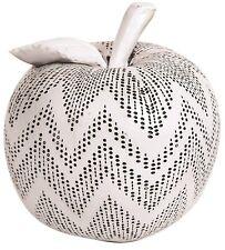 16cm Deko Obst weiß perforiert Apple große Apple Wohnambiente