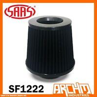 SAAS POD AIR FILTER BLACK URETHANE BLACK TOP 76MM 3 INCH DUAL CONE - SF1222