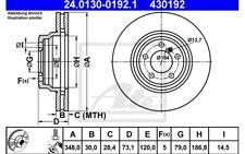 ATE Juego de 2 discos freno Antes 348mm ventilado para BMW Serie 3 X1