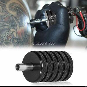 5pcs Lot 25mm Tattoo Machine Hand Grips Aluminum Alloy Knurled Anti Slip Handle