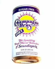 Vintage Champagne Brus Diet Scandinavia Soda Pop Top Can A1+ Beer Flat Cone Ofr