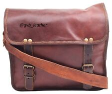 "15"" Men's Genuine Leather Messenger Sustainable Shoulder Laptop Bag Briefcase"