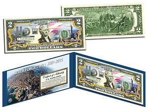 ONE WORLD TRADE CENTER 14th Anniversary *Then & Now* 9/11 WTC Genuine $2 US Bill