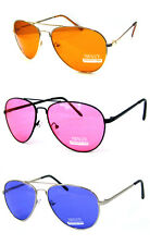 6 Pairs Brand New Aviator Sunglasses Wholesale/Bulk sale/Assorted Colours/UV400