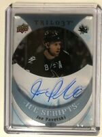 2015-16 Upper Deck Trilogy Ice Scripts Joe Pavelski #IS-JP Auto