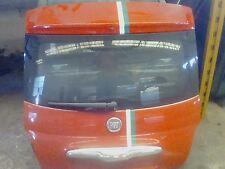 Fiat 500 2008 baule portellone posteriore completo rosso di lunotto