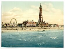 Large A3 Victorian View of Blackpool Tower from The North Pier Old Photo Poster
