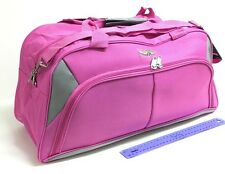 Womens Pink Overnight Gym Bag Ladies Hand Luggage Weekend Travel Holdall
