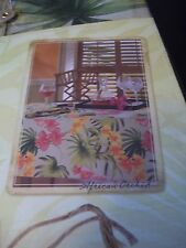 "TOMMY BAHAMA FABRIC TABLE CLOTH AFRICAN ORCHID OBLONG 60"" X 84"" TROPICAL FLOWERS"