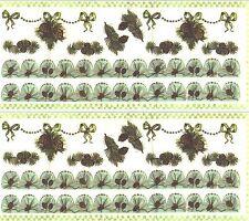 Pine Cone Tree Border Christmas XMAS Scrapbook Stickers 2 Large Sheets!