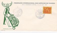 PORTUGAL  COVER FEDERACAO INTERNACIONAL DAS AGENCIAS DE VIAGENS 10 NOV. 1954