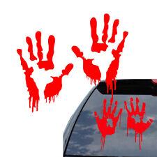 Red Bloody Blood Hand Print Vinyl Car Decal Zombie Creepy Dead Sticker Creep RAC