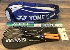 Set 2 Yonex Rackets NANOSPEED 9900 And 9000  X W/Bag Badminton Used Once Great