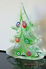 Murano Glass Christmas Tree Murrina Millefori Art Glass