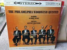Columbia MS 6114 Philadelphia Woodwind Quintet Barber And Nelsen 6 eyes NM