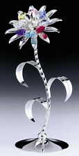 "SWAROVSKI CRYSTAL ELEMENTS ""Flower"" FIGURINE - FREE STANDING SILVER PLATED"