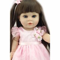 Reborn Baby Toddler Girl Dolls Realistic Newborn Lifelike Vinyl Silicone Gift A+