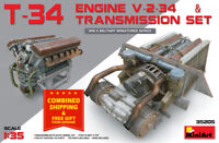 Miniart 35205 T-34 Engine V-2-34 & Transmission Set 1/35 Scale Plastc Model Kit