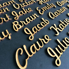 25mm/2.5cm. Script Font Names, Letters or Words - Custom wooden MDF Wedding  FH
