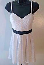 Women's PAPER DOLL White Floral Spaghetti Strap Summer Sun Dress Junior's Size 7