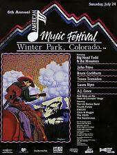 6th Annual American Music Festival 1993 Winter Park CO Original Poster AJ Croce