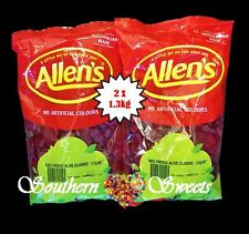 ALLENS RED FROGS  2 x 1.3KG BULK BUY RED LOLLIES