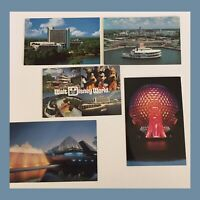 Vintage Lot Of Disney Postcards - Lot Of 5 - Disney/Epcot - Unposted
