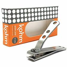 Kohm CP-240L Straight Edge Toe Nail Clippers for Thick Toenails, Strong Large