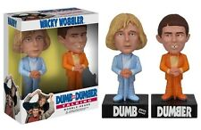 Funko DUMB & DUMBER TALKING Wacky Wobbler Bobblehead SET Jim Carrey Jeff Bridges