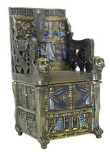Egyptian Throne Jewelry Box #3-Hand Painted Detail- Magnetic Secret Compartment