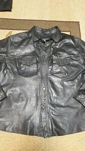 Leather Shirt XXL