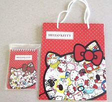 NEW Sanrio Hello Kitty 40th Anniversary Note Memo Pad and Gift Bag from Japan
