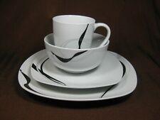 Corsica Porcelain Carnival 4-piece Place Setting Dinner & Salad Plates Bowl Mug