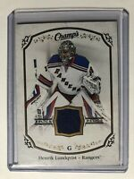 2015-16 UD Champs Relics Jersey Henrik Lundqvist New York Rangers