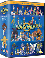 Digimon: The Complete Series Seasons 1-4 Collection (DVD,2013,32-Disc) US Seller