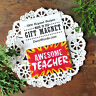 DecoWords Magnet  AWESOME TEACHER Gift Magnetic Fridge Decor Fun Made in USA New