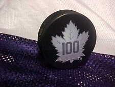 NHL Toronto Maple Leafs Logo 100th Anniversary Souvenir Hockey Puck
