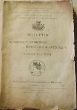 Bulletin de la commission  Historique et Artistique  de Neuilly-sur-Seine 1912