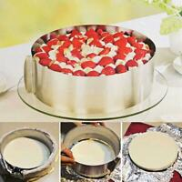 Round Mousse Mould Cake Stainless Steel Ring Pastry Mold Baking Tool L4Y2